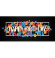 Happy Birthday Banner Design Background vector image