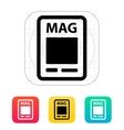 Magazine icon vector image