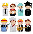 People occupations EPS10 vector image