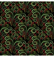 Abstract seamless floral curl pattern vector image