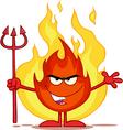 Cartoon flame vector image