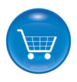 blue shopping icon vector image vector image
