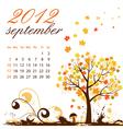 calendar for 2012 september vector image