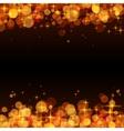 Yellow shining bokeh frame abstract background vector image vector image