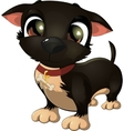 beautiful black dog on a white background vector image