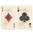 Ace of Diamonds and Clubs vector image