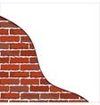 brick wall plaster vector image