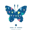 colorful doodle bunting flags butterfly silhouette vector image