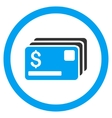 Credit Cards Rounded Icon vector image