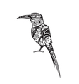 Ethnic ornamented bird vector image