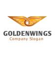 Golden Wings Design vector image