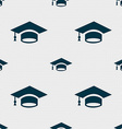 Graduation icon sign Seamless pattern with vector image