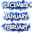 January February December banners vector image