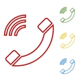 Phone sign Set of line icons vector image