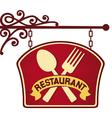restaurant sign restaurant symbol vector image