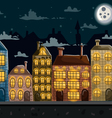 Seamless night city landscape vector image