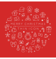 Set of christmas icons eps10 format vector image
