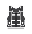 water life vest jacket icon vector image