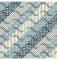 Waves on striped pattern vector image