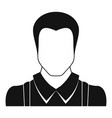 worker avatar icon simple vector image