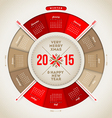 Christmas and New year calendar 2015 vector image
