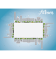 Athens Skyline with Grey Buildings vector image vector image