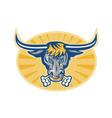 Angry Texas Longhorn Bull vector image