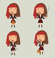 halloween pirate girl vector image