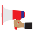 Hand with a megaphone vector image