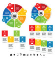 infographic with icon set vector image