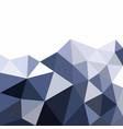 low polygonal mountain in triangle style vector image