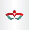 man exercise flower shape symbol vector image