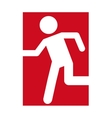 man running door emergency icon vector image