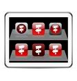 Road arrows red app icons vector image