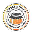 sweet honey vintage isolated label vector image
