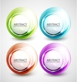 Swirl shapes vector image