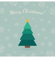 Christmas tree on winter backdrop vector image vector image