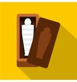 Sarcophagus of an Egyptian mummy icon flat style vector image