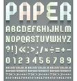 Alphabet folded of perforated paper vector image