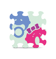 baby sign made with alphabet puzzle vector image vector image