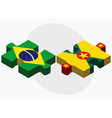 Brazil and Grenada Flags vector image