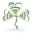 abstract shamrock with ribbons vector image vector image