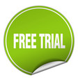 free trial round green sticker isolated on white vector image