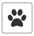 Pets paw icon 2 vector image