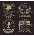 Baseball Typographic Emblems vector image