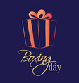 boxing day sale of a square banner or card vector image