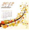 calendar for 2012 october vector image