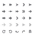 set of universal arrows vector image