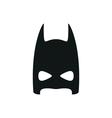 simple black super hero mask icon on white vector image