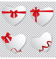 valentine heart tied with red ribbon and bow vector image